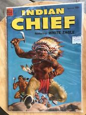 Indian Chief #14 DELL 1954 WHITE EAGLE Rare in condition FN/VF best listed