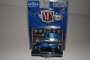 M2 MACHINES AUTO-WHEELS 1954 STUDEBAKER 3R PICKUP, BLUE, 1:64, NIB