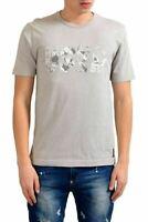 Armani Jeans AJ Men's Gray Graphic Crewneck T-Shirt US M IT 50