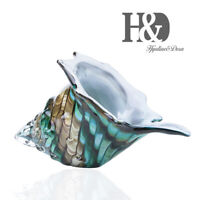 Hand Blown Glass Art Ocean Animal Design Seashell Conch Sculpture for Home Gifts