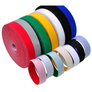10/15/20/25/30/40/50mm Double Sided Hook and Loop Tape Fastener Cable Ties Strap