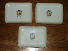 3 Vintage Bavaria Germany TIRSCHENREUTH Tip Pin Trays Plates Man Chopping Wood
