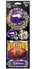 MINNESOTA VIKINGS PRISMATIC HOLOGRAPH STICKER DECAL SHEET OF 5 NFL FOOTBALL