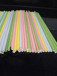 Ecopac Biodegradeable Straight Paper Straws 25/50/100/250  Drinking/Craft X long