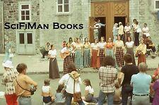 KODACHROME 35mm Slide Quebec City Notre Dame Church Women Band Fashion 1973!!!