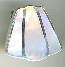 925 Sterling Silver White Mother of Pearl Large Pendant L25mm 7.6 grams