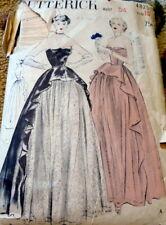LOVELY VTG 1940s EVENING DRESS BUTTERICK Sewing Pattern 16/34