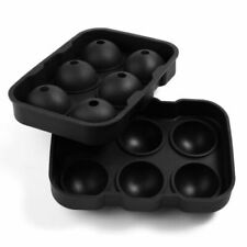 6Holes Round Ice Ball Maker Sphere Tray Silicone Mold Cube