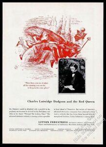 1957 Lewis Carroll photo Alice in Wonderland Red Queen art Litton Industries ad
