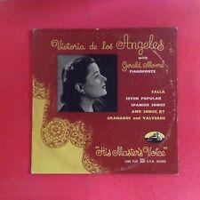 """Victoria de los Angeles - Spanish Songs by Falla/Granados/Valverde (10"""" mini-LP)"""