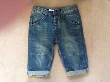 Burton Denim Long Length Shorts Blue 30W Hardly Worn