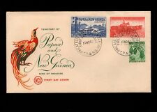 Papua & New Guinea Port Moresby 1st Day 1960 (2) Island Life & Cacao Cover 5l