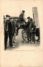 CPA PARIS Cocher et sergent de ville. une Contravention (676062)