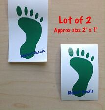 Car Decal Mini Footprints In Sand Beach Surfing Bare Foot Vacation Lot Of 2