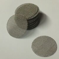 """300+ COUNT - Stainless Steel T304 Wire Mesh Filter Discs 1/2"""" MADE IN USA!"""