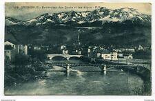 CPA-Carte postale- France -  Grenoble - Panorama des Quais et les Alpes - 1926