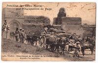 CPA JONCTION DES DEUX MAROC PAR L'OCCUPATION DE TAZA - PORTE DE LA VIEILLE CASBA
