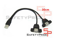 Cable alargador usb 30cm macho a doble hembra montaje panel extensor SP
