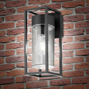 LED Rectangular Outdoor Wall Light Clear Metal Lantern Garden Wall Lamp ZLC079CW