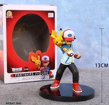 Anime Pocket Monster Pokemon Ash Ketchum & Pikachu Toy Figure Doll New in Box