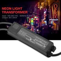 Neon Light Sign Electronic Transformer Power Supply 3KV 30mA 5-25W Set Tool