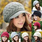Femmes Hiver Chaud Chapeau Crochet Tricot Souple Beauté Bonnet Large Casquette