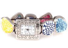 Viva Beads JUMBLE Square Pebble Watch