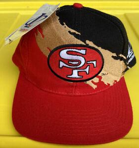 NWT Vintage 90s San Francisco 49ers Logo Athletic Splash Snapback Hat Cap NFL