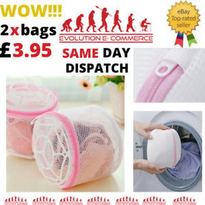Bra Wash Bag Laundry Net Mesh Sock Washing Machine Basket Lingerie Underwear UK