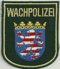 Polizei HESSEN  Patch WACHPOLIZEI  90er Jahre Ärmel-Abzeichen Stoffabzeichen # B