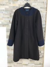 Boden Ladies Size 14 Brown Wool Coat Jacket Long Trench Warm