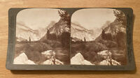 North Dome, Half Dome, and Clouds Rest –Yosemite Valley – 1902 Stereoview Slide