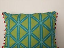 Tropical Beaded Green Rectangular Indoor Cotton Sateen 35x45CM Cushion Cover