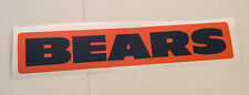 "Chicago Bears Fathead Official Team Orange Banner Sign 26"" x 5"" Wall Graphics"