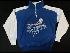 Vtg LA Dodgers Sweatshirt Mens 80s Los Angeles Baseball Crewneck Quarter Zip