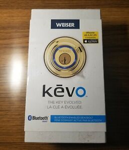 New Weiser Kwikset Kevo 1st Gen Bluetooth Deadbolt Smart Door Lock Gold