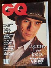 Vintage GQ Gentlemen's Men's 90s Quarterly Magazine March 1994 Tommy Lee Jones