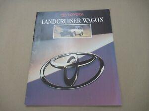 1995 TOYOTA LAND CRUISER WAGON Catalogue Brochure Prospekt Dépliant French