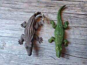 "Alligator Crocodiles Caiman Figures Toy Plastic 3"" Safari & Other"