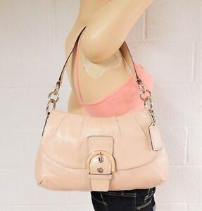 EUC Coach Handbag F17217 Soho Satchel Buckle Flap Shell Pink Leather P16