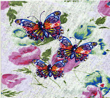 12 BUTTERFLY GIFT NOTELETS  BY SELF-REP' ARTIST [FREE P&P]