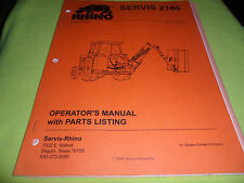 (DRAWER 13) Rhino Servis 2160 SV2160  Operators Manual Parts Listing