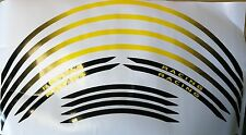 Motorcycle Motorbike Scooter Cycle Racing Wheel Stripes Rim Tape Black/Yellow
