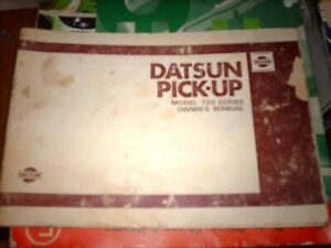 Datsun 720 Pick-Up Owners manual Operation Service and Maintenance 2WD and 4WD