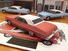 Papercraft E Z U-make1975 Chevrolet Caprice top-up convert Paper Model Car