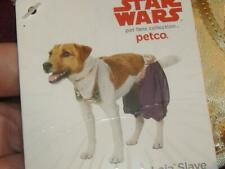 """New STAR WARS """"PRINCESS LEIA SLAVE"""" SMALL DOG CAT OUTFIT HALLOWEEN PETCO COSTUME"""