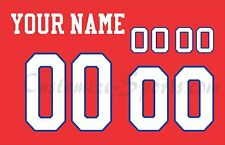New Jersey Generals Customized Number kit for 1983-1986 Scarlet Football Jersey