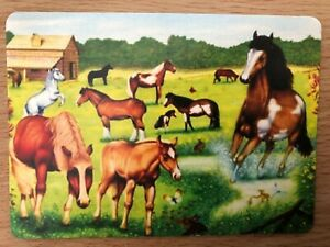 Horse Show Prep Equestrian Dressage Event Country Barn SINGLE Swap Playing Card