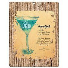 PP0557 Cocktail Lagoon Plate Chic Sign Bar Shop Cafe Restaurant Kitchen Decor