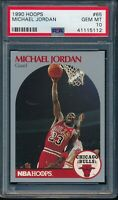 PSA 10 MICHAEL JORDAN 1990-91 Hoops #65 Chicago Bulls RARE HOF GOAT GEM MINT